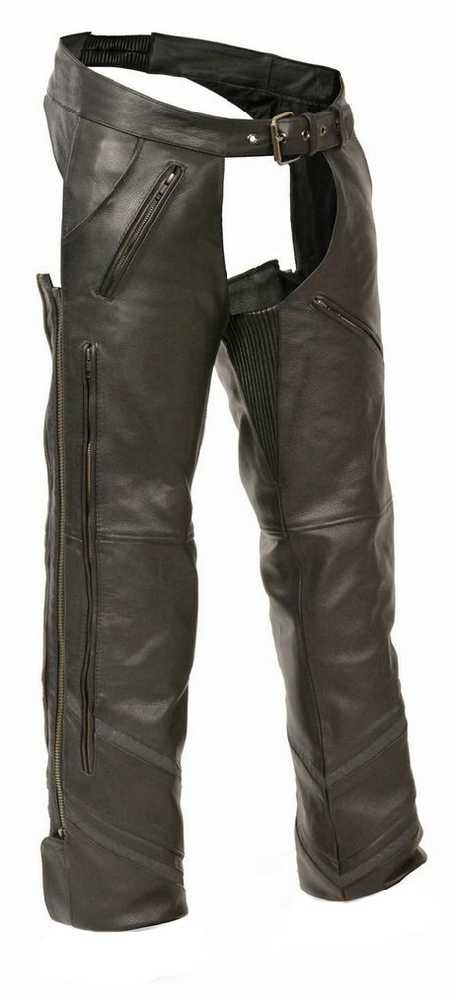 Milwaukee Leather Leather Mens Chaps Mens Retro Leather 4 Pocket Thermal Lined Chaps 4Xl Style # ML1191RT