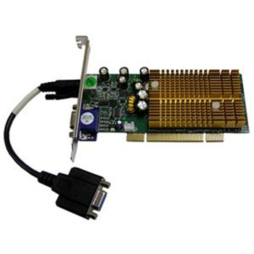 Jaton nVidia Geforce 6200 128MB DDR PCI Low profile support Dual VGA Video Card
