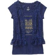"""""""BESTIE VESTIES"""" Applique Top with Lace Vest"""