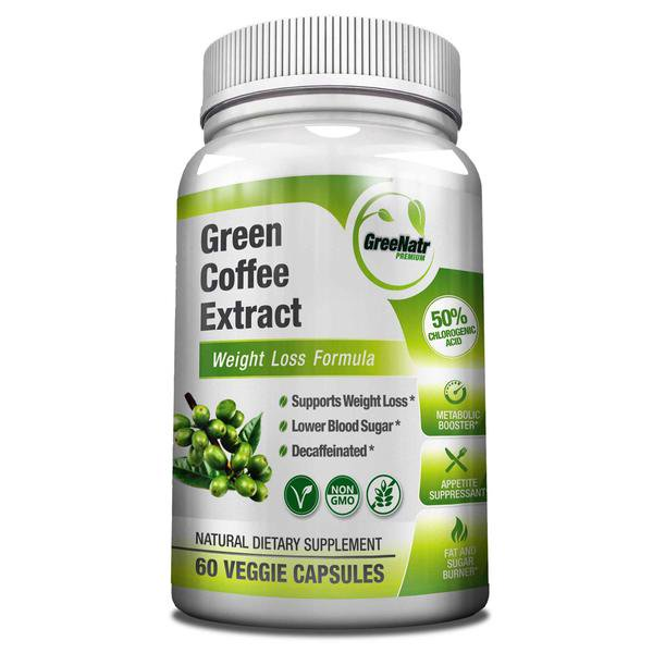 Greenatr Pure Green Coffee Bean Extract Weight Loss Formula 1000