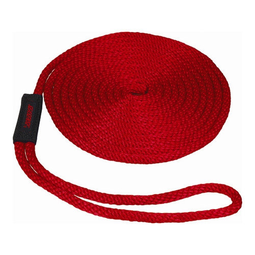 Unified Marine 0.375'' x 15' Solid Braid MFP Dockline in Red