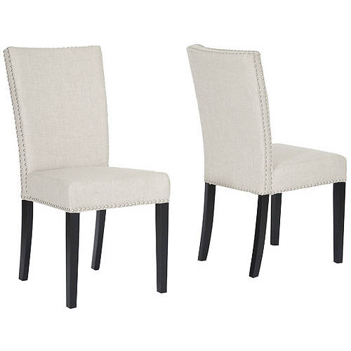 Baxton Studio Harrowgate Beige Linen Dining Chairs Set of 2 by Baxton Studio
