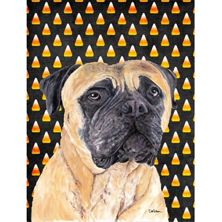 Carolines Treasures SC9183CHF Mastiff Candy Corn Halloween Portrait Flag Canvas - House Size - image 1 de 1