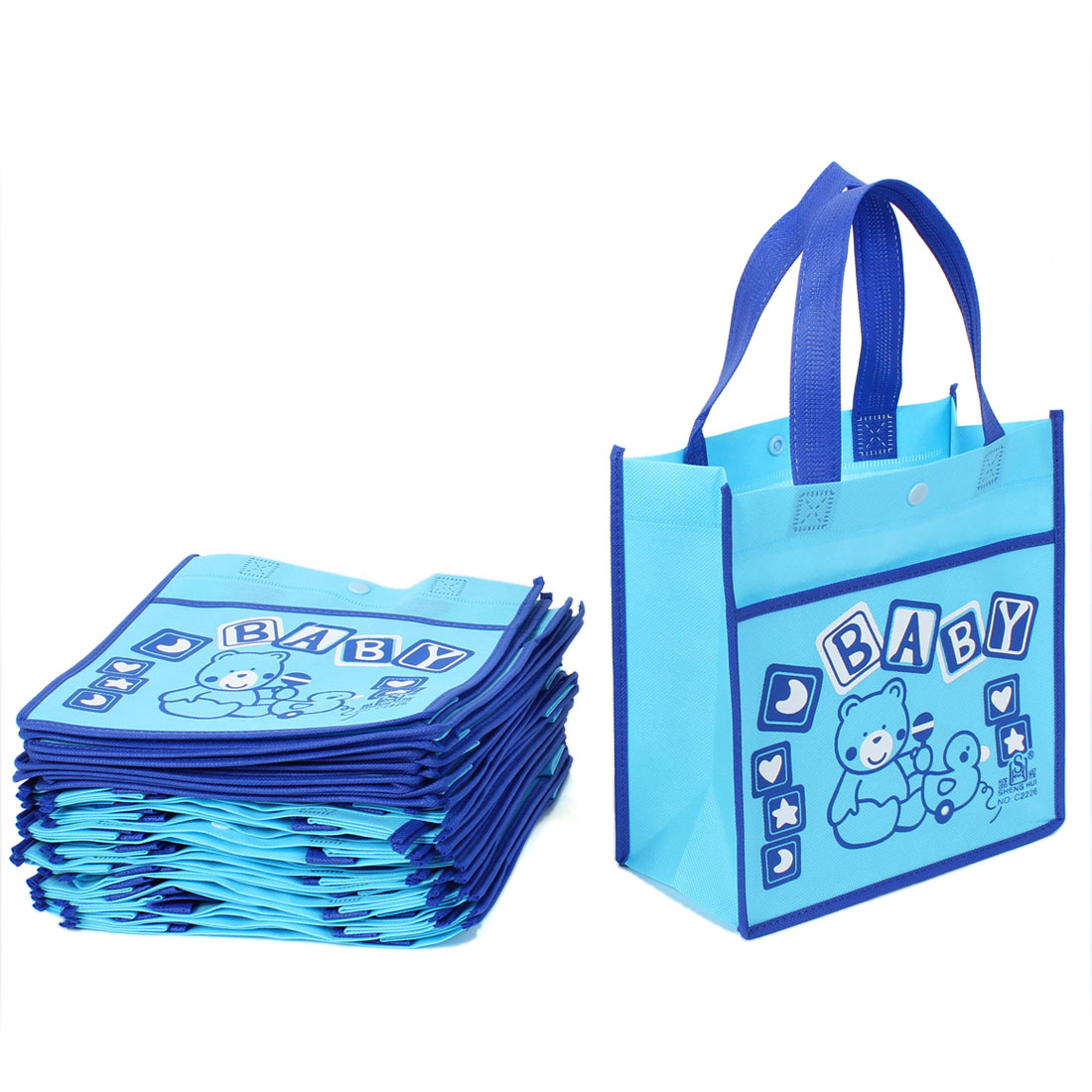 20pcs Cartoon Pattern Reusable Shopping Eco Non Woven Bags Tote 22 x 22cm