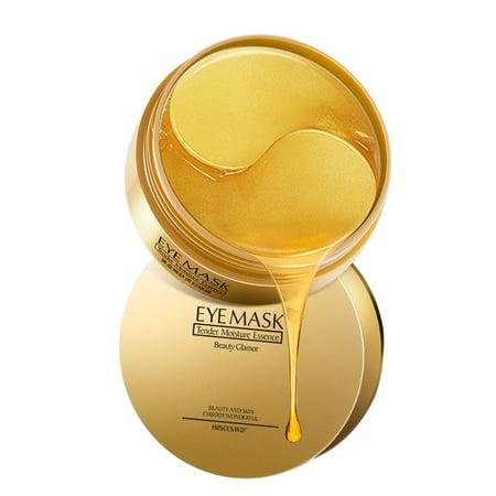 ZEDWELL 60Pcs 24k Gold Gel Collegan Eye Mask Hydrating Firming Skin Remove Dark Circles Eye Bags Anti-Aging Eye Pads ()