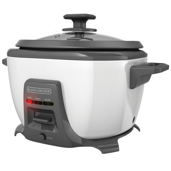 BLACK+DECKER 14-Cup Rice Cooker with Sauté, White, RCS614