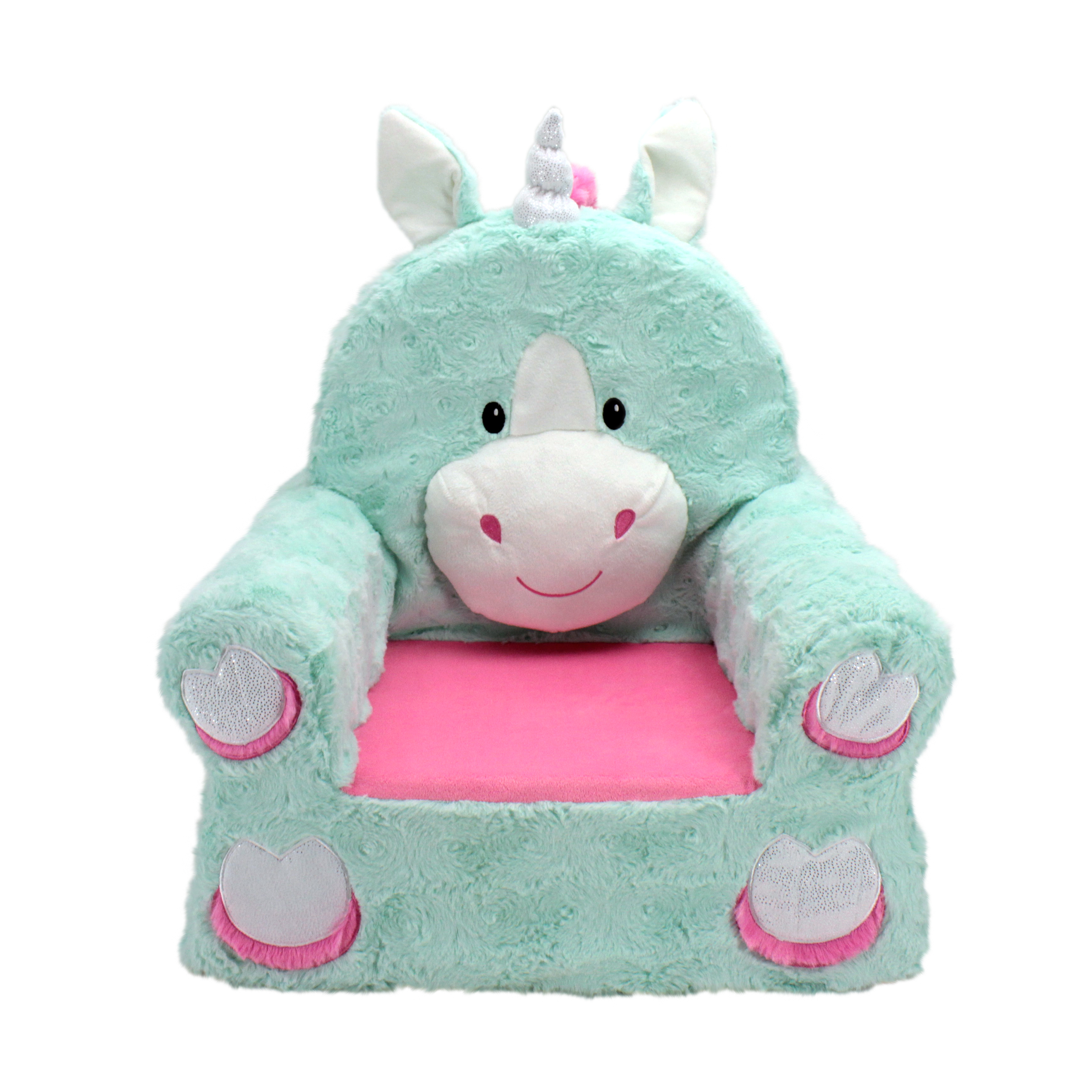 Product Image Sweet Seats Adorable Teal Unicorn Childrenu0027s Chair Ideal For  Children Ages 2 And Up, Standard
