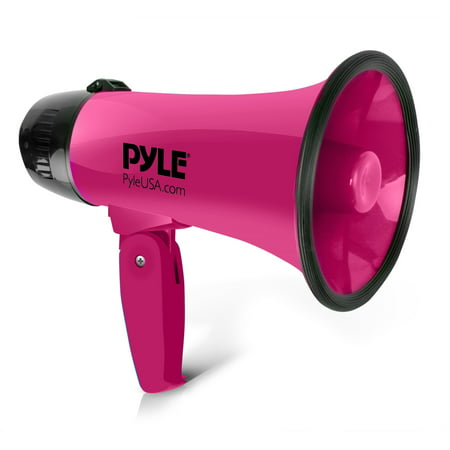 PYLE PMP24PK - Compact & Portable Megaphone Speaker with Siren Alarm Mode, Battery
