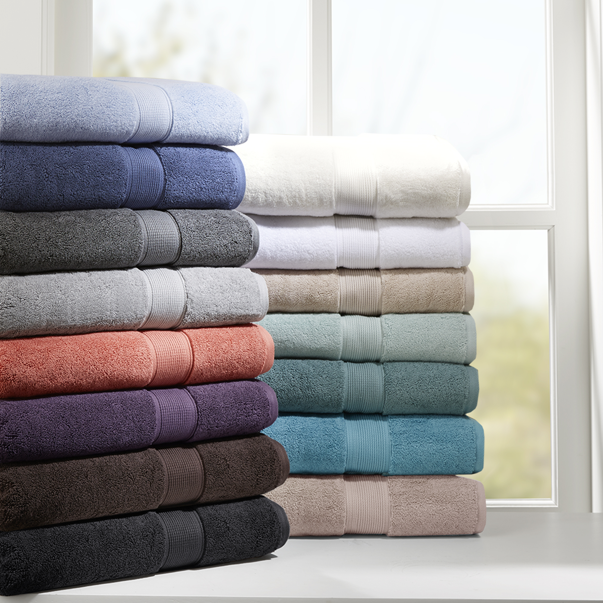 Home Essence 800GSM 100 Percent Cotton 8 Piece Towel Set