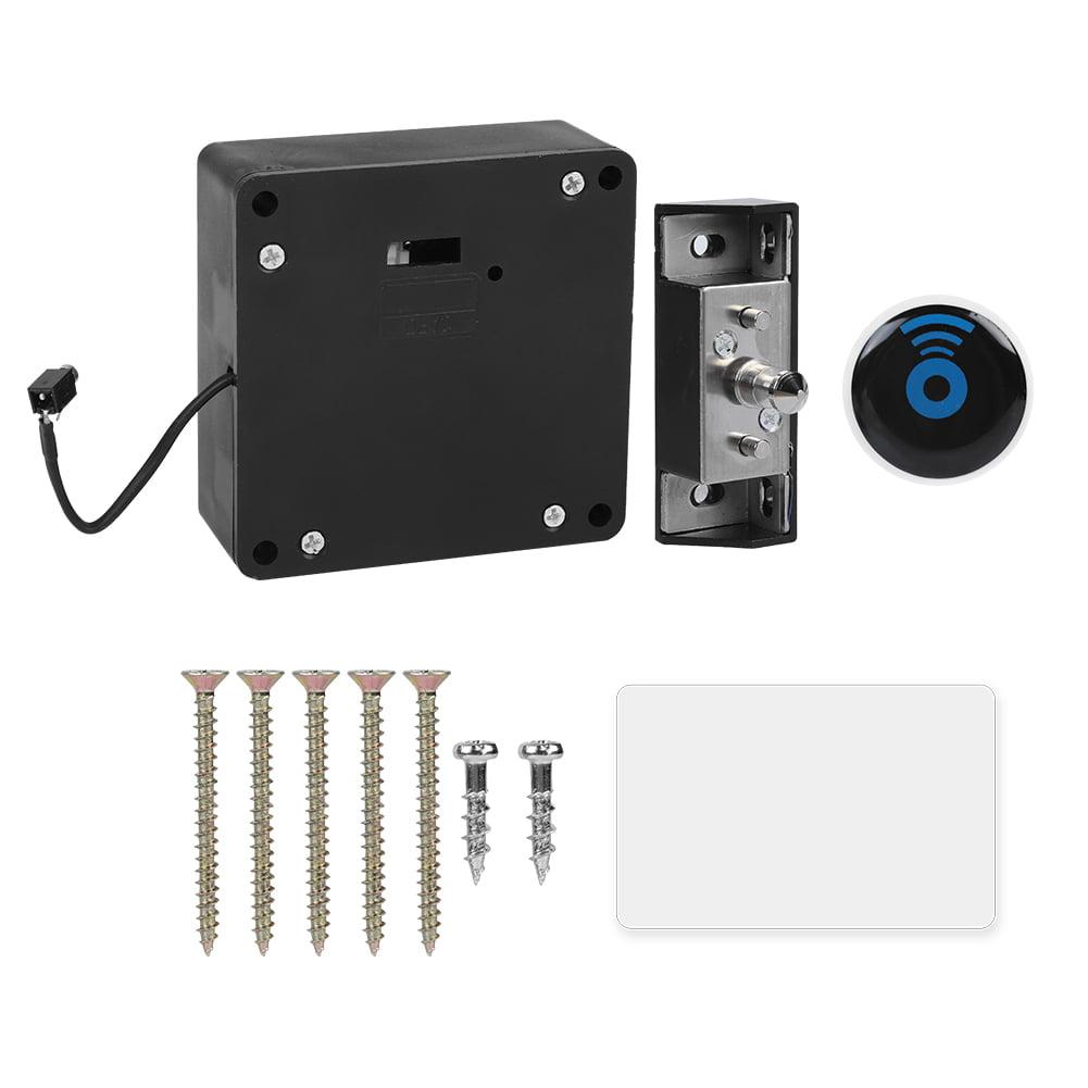Invisible Lock RFID Electronic Cabinet Door Locking Black Drawer Locker Durable