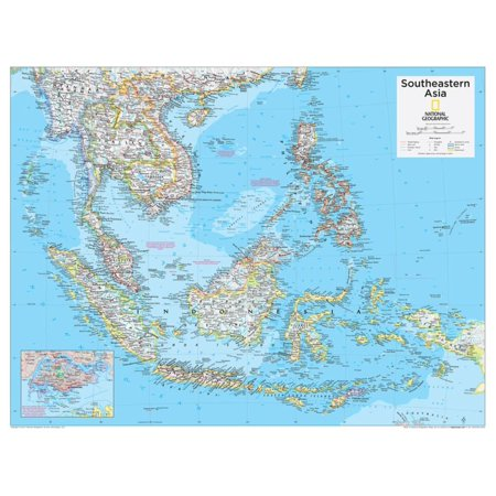 Geographical Map Of Southeast Asia.2014 Southeastern Asia National Geographic Atlas Of The World 10th Edition Poster Wall Art By National Geographic Maps