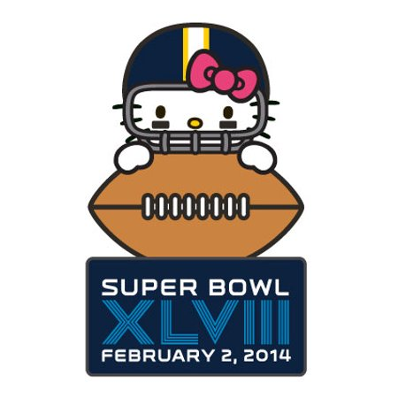 Super Bowl Xlviii  48  Hello Kitty Pin