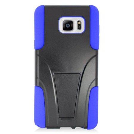 Insten Hard Hybrid Plastic Silicone Case with stand For Samsung Galaxy Note 5 - Blue ()