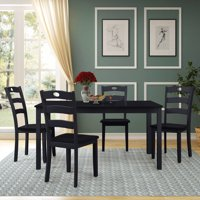 Harper & Bright Designs 5-Piece Wood Dining Table Set, Multiple Colors