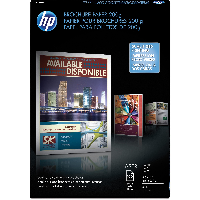 HP, HEWQ8824A, Matte Laser Brochure Paper, 100 / Pack, White