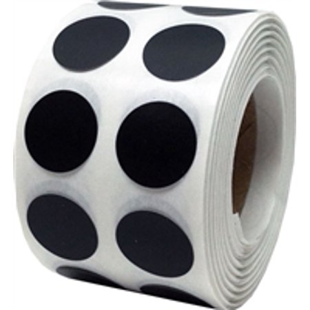 Black Circle Dot Stickers, 0.5 Inch Round, 1000 Labels on a (Xl Black Label)