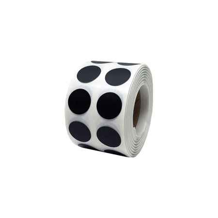 Black Circle Dot Stickers, 0.5 Inch Round, 1000 Labels on a - Black Dot Stickers