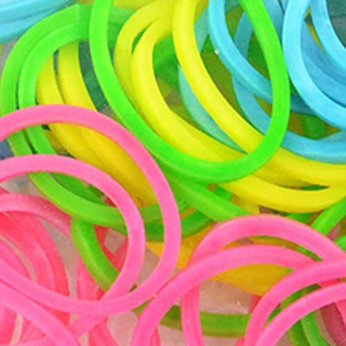 Loom Bands with Clasps, 100 Bands and 10 Clasps, Pastel Assortment