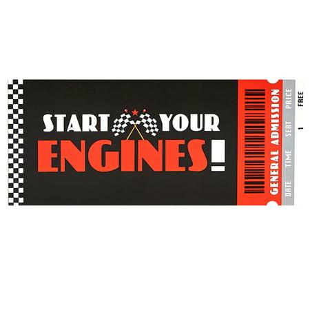 Race Car Invitations (Racecar Racing Party Supplies Invitation)