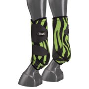 Tough-1 Extreme Fun Prints Front Vented Sport Boots - Medium - Neon Green Zebra