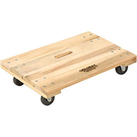 Hardwood Dolly - Solid Deck, 36 x 24, 1000 Lb. Capacity, Lot of 1
