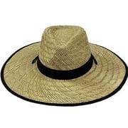 LARGE NATURAL Straw Summer HAT BEACH GARDENING FISHING Hiking Mens Womens