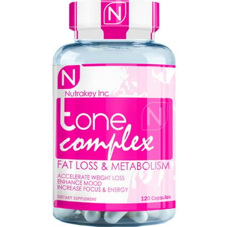 Nutrakey Complexe Tone - 120 Capsules (brûleur de graisse de femmes)