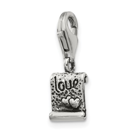 925 Sterling Silver Charm For Bracelet Love Note Click On Bead Click-on Fine Jewelry Gifts For Women For Her - image 8 of 8