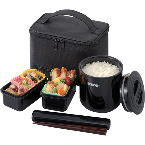 Tiger Classic Lunch Box, 25.3 oz, Black