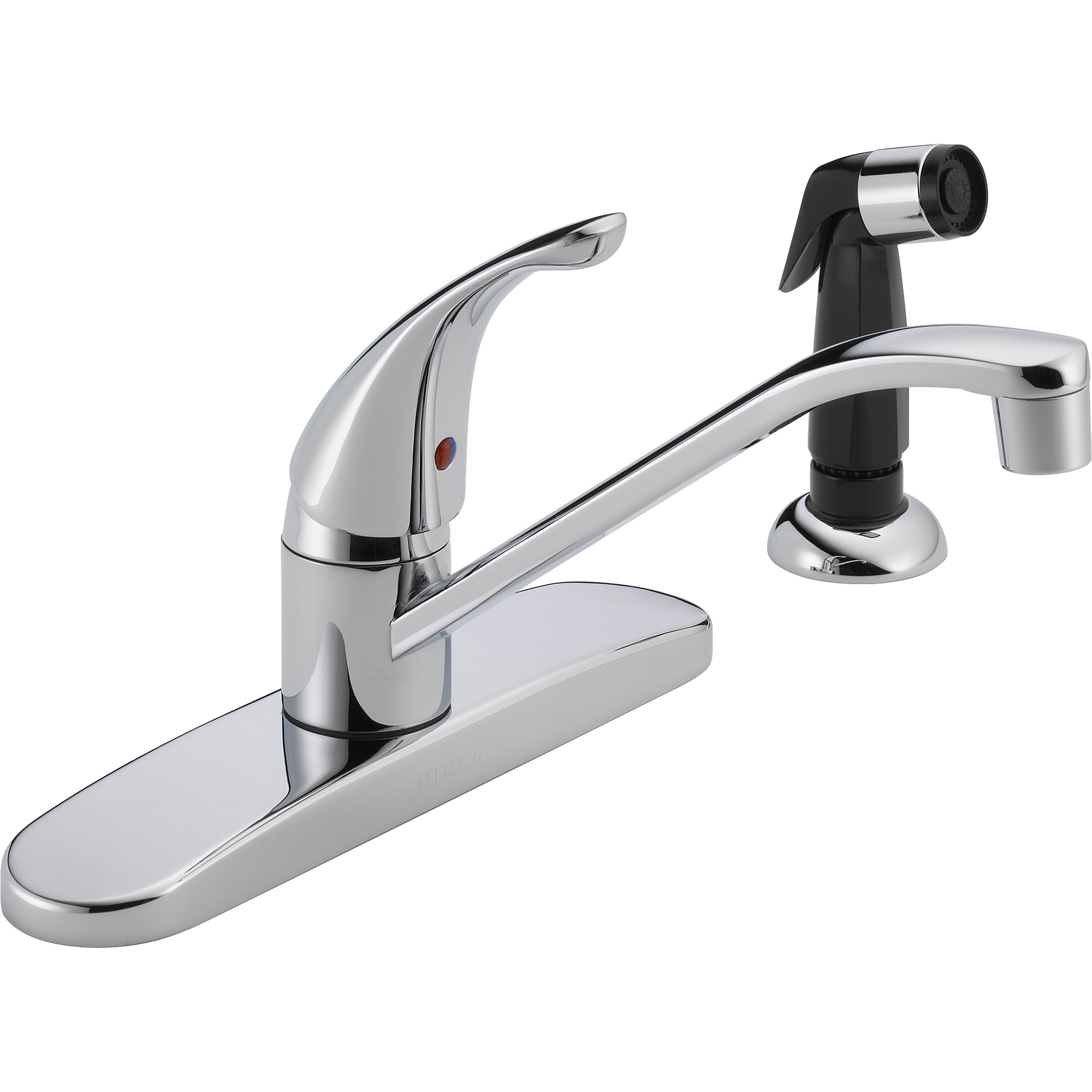 Delta Chrome Kitchen Faucets Peerless Single Handle Kitchen Faucet With Side Sprayer Chrome