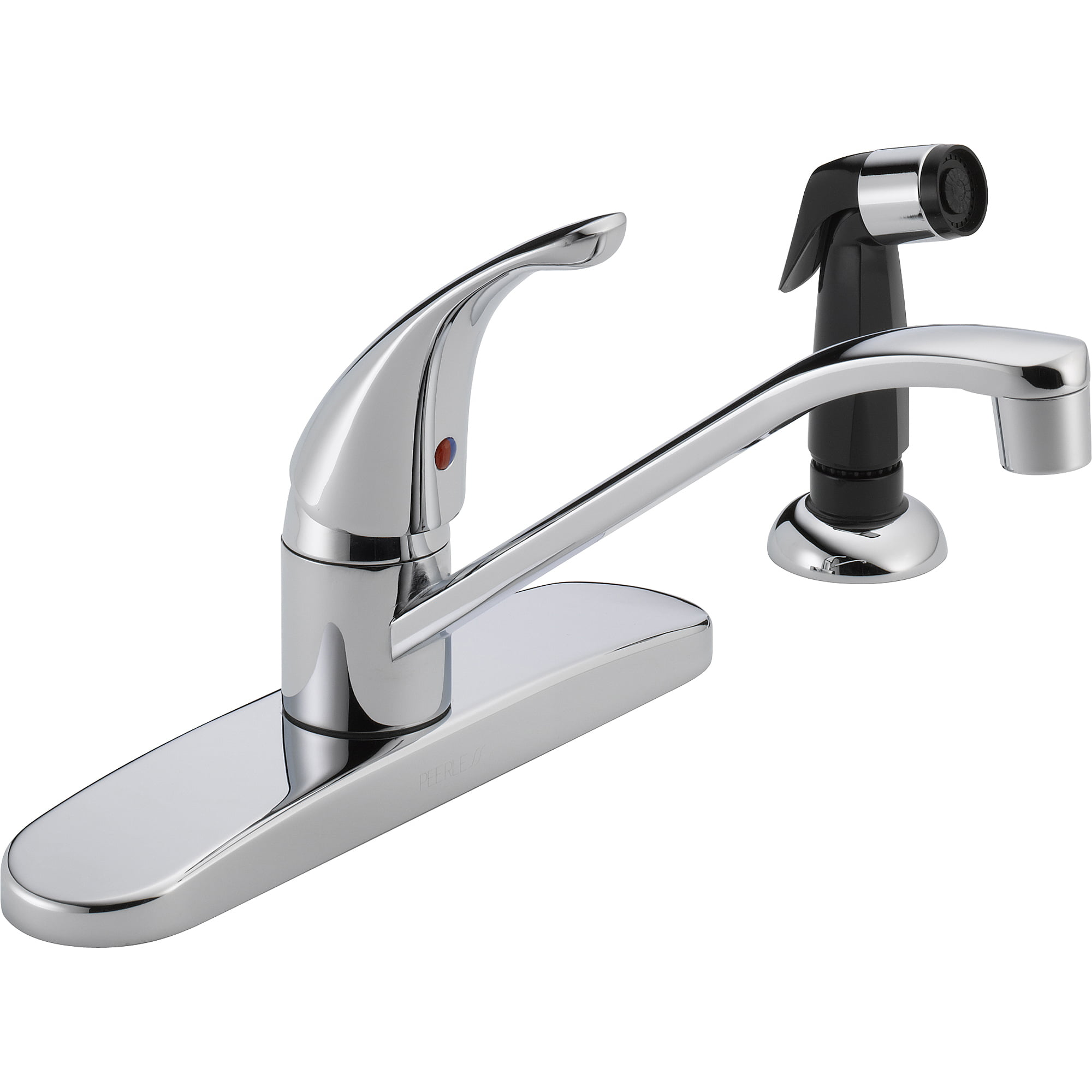 Peerless Single Handle Kitchen Faucet with Side Sprayer, Chrome ...