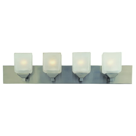 Bel Air Lighting CB-2804-PW 4 Light Pewter Cube Bath -