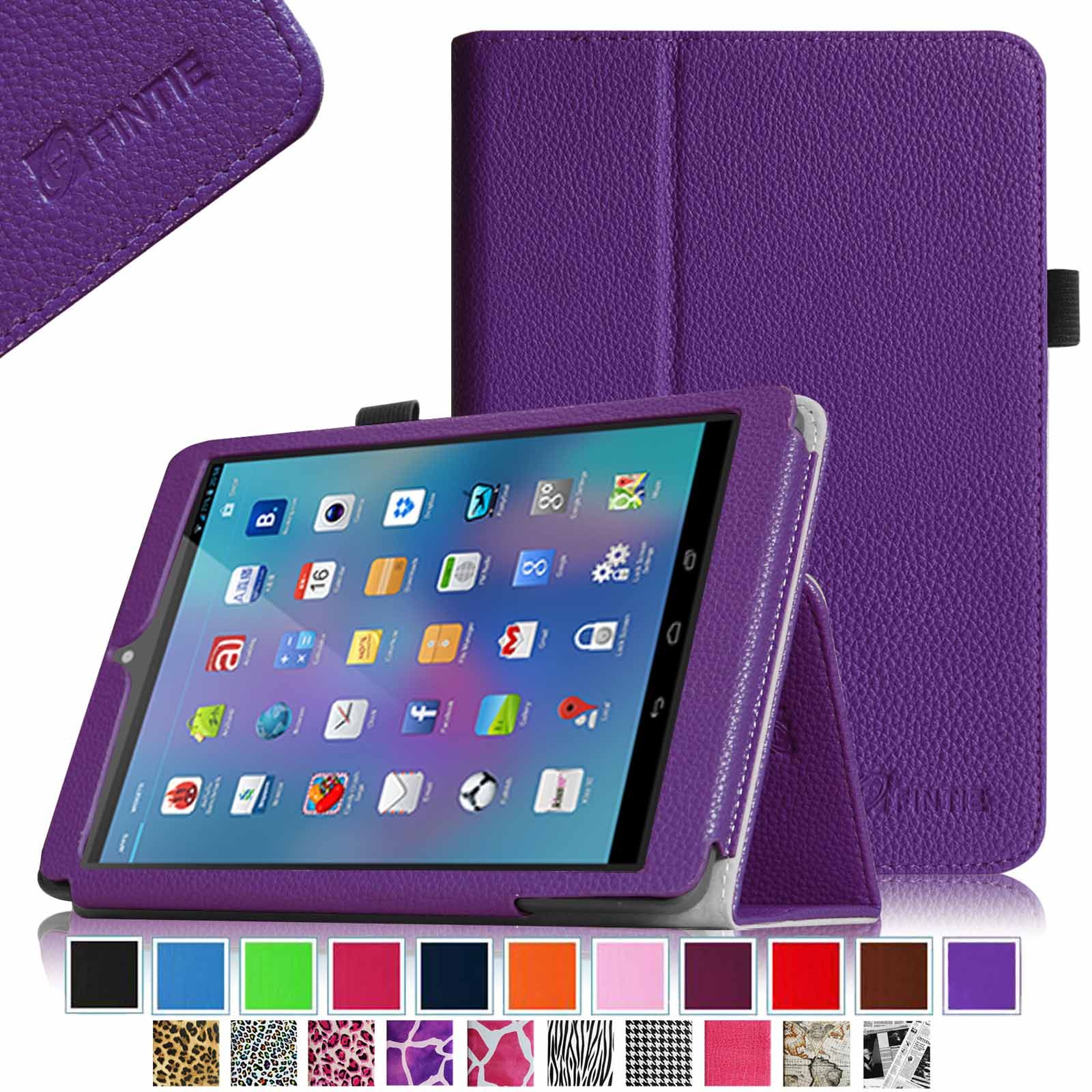 "Fintie Premium PU Leather Case Cover with Stylus Holder For Nextbook 8(NX785QC8G) 7.85"" Android Tablet, Violet"