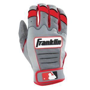 Franklin CFX PRO Youth Batting Gloves - Grey/Red Medium