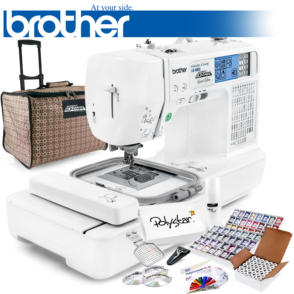 Brother LB-6800 PRW Project Runway Computerized Sewing Embroidery Machine w/ USB Port and Grand Slam Package