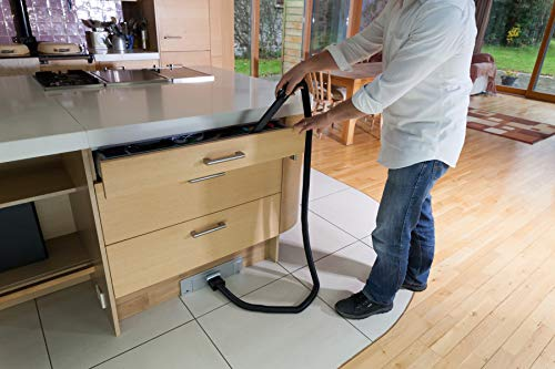 Sweepovac Built in Kitchen Vacuum Plus Hose and 2 attachments for Below Cabinets and Toe Kick Spaces