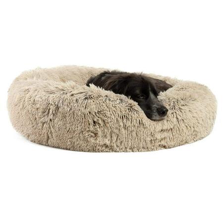 Best Friends by Sheri Original Calming Donut Shag Cuddler ™ - 30x30 Taupe