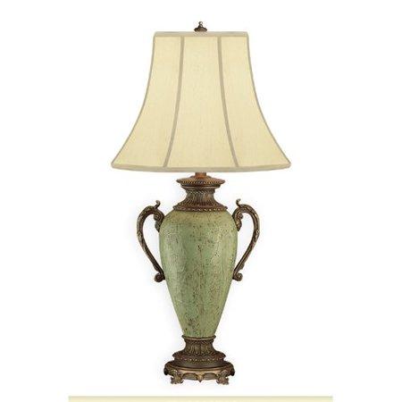 Jb Hirsch Home Decor Kiwi Ormolu Vase 30 Table Lamp Walmart