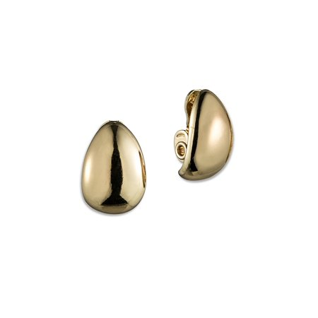Goldtone Hoop Clip Earrings 24k Gold Vermeil Ear Wires