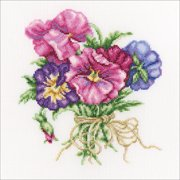 "RTO Counted Cross Stitch Kit 7.5""X8.5""-Violets Bouquet (14 Count)"