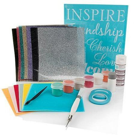 Martha Stewart Specialty Transfers Kit ~ Stencils, Tranfers, Paint, Adhesive, Tools ~ Complete Kit!! - Martha Stewart Halloween Party