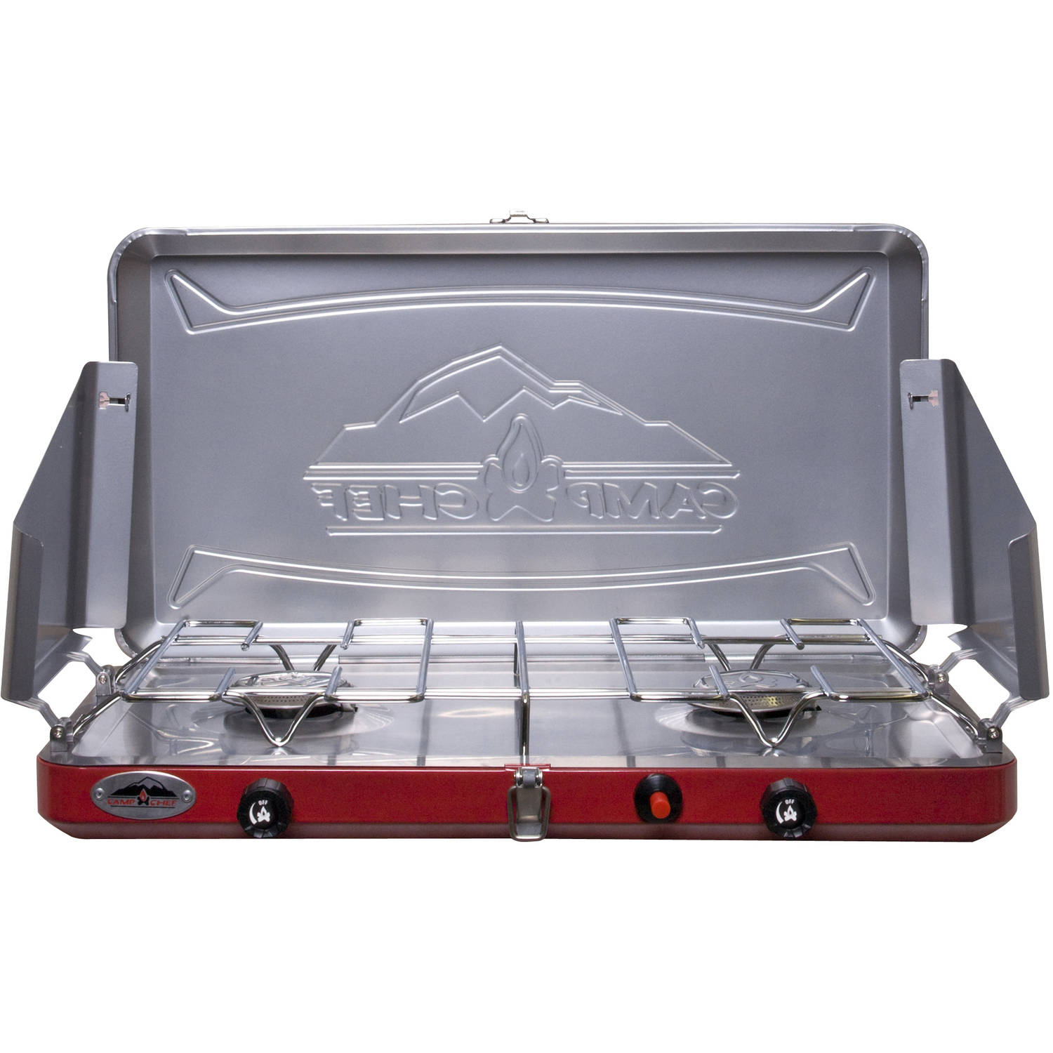 Camp Chef Teton MS2- Double burner stove with Stainless drip tray
