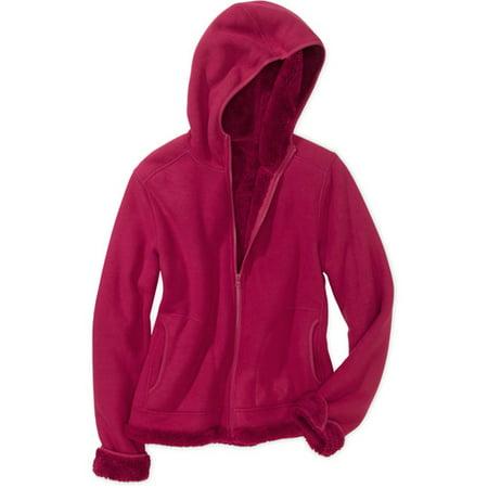 2353bde8f76 Faded Glory - Faded Glory - Women s Plus-Size Microfleece Sherpa-Lined  Hoodie - Walmart.com