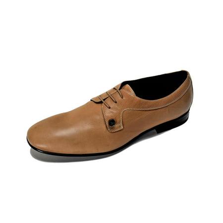 Versace Collection Men's Lace Up Oxfords Dress Shoes Beige US 11 IT