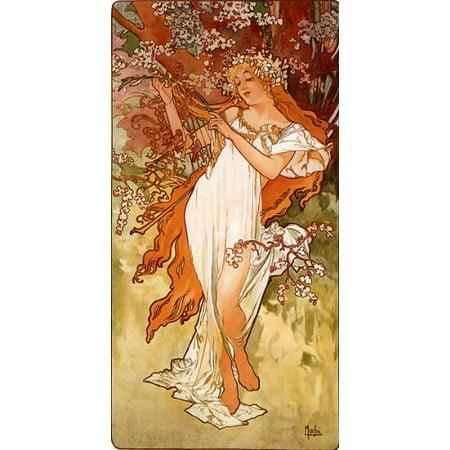 Alphonse Mucha Vintage Poster Spring Art Print New 12x18 (Mucha Vintage Poster)