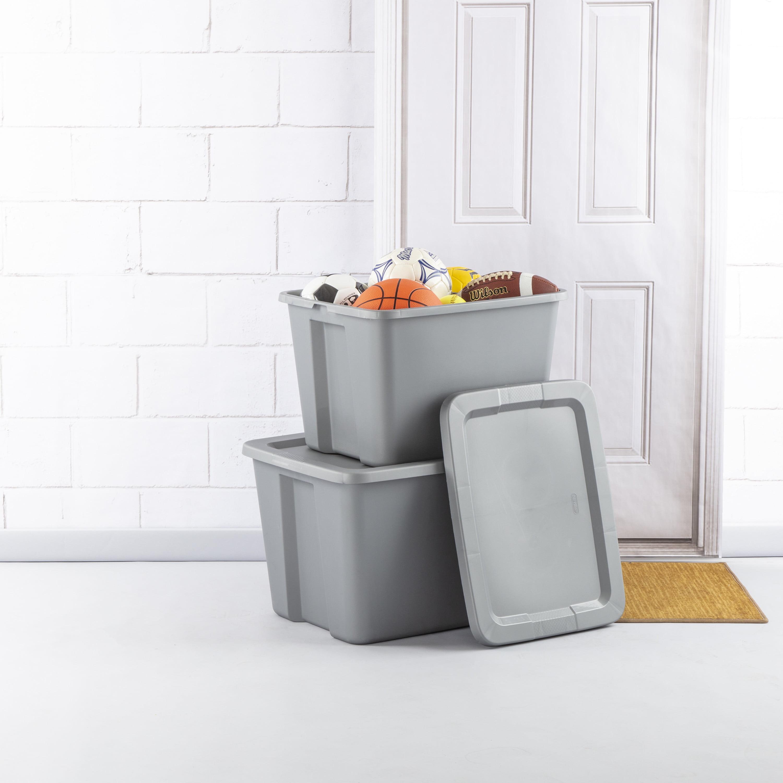 8 PLASTIC STORAGE CONTAINERS 18 Gallon Sterilite Stackable Tote Box Bin With Lid