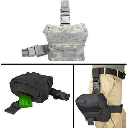Ultimate Arms Gear Ar15 Ar 15 M4 M16  223 5 56 Tactical Acu Digital Camo Utility Multi Purpose Molle Dump Ammo Ammunition Magazine Stripper Clips Pouch Drop Leg   Belt Adjustments