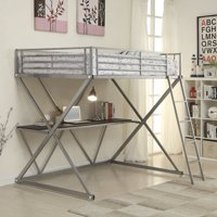 Coaster 400034F Home Furnishings Workstation Bed, Full, Silver