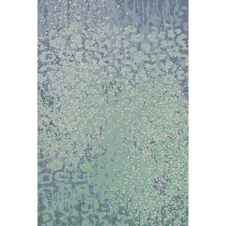Non Puddle Light - 2' x 3' Splattered Puddles Lime Green and Steel Blue Hand Knotted Wool Area Throw Rug