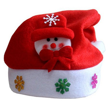 eed712932fbca Traditional Red and White Christmas Snowman Hats for Kids Party Favors  Decoration - Walmart.com
